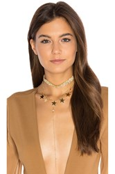 Frasier Sterling Disco Queen Layer Necklace Metallic Gold