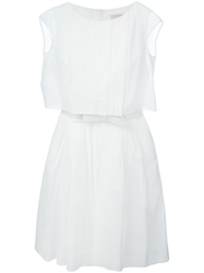 Dice Kayek Broderie Anglaise Belted Dress White
