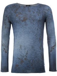 Avant Toi Distressed Jumper Blue