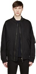 Diesel Black Gold Black Oversized Bomber Jacket