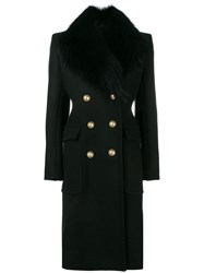 Alexandre Vauthier Double Breasted Coat Black