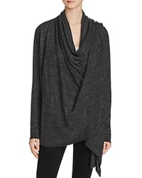 Alternative Apparel Overlap Wrap Cardigan Eco Black