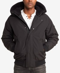 Sean John Men's Hooded Bomber Jacket Black