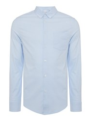 Linea Hanson Stretch Slim Fit Long Sleeve Oxford Shirt Light Blue