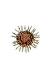 Panacea Drusy Beaded Ring Peach