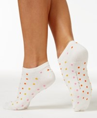 Kate Spade New York Multi Dot No Show Socks Cream