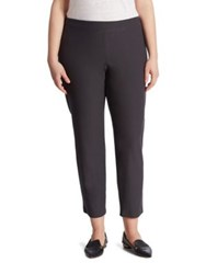 Eileen Fisher Crepe Ankle Length Pants Graphite