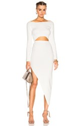 Baja East For Fwrd Cut Out Dress In White