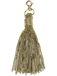 Lanvin Tassel Keyring Yellow And Orange