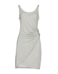 Maison Espin Short Dresses Light Grey