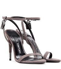 Tom Ford Suede Sandals Grey