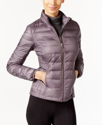 32 Degrees Short Packable Down Puffer Coat Stone Grey