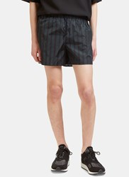 Acne Studios Perry Striped Swim Shorts Navy