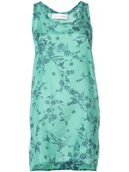 Faith Connexion Floral Longline Tank Top Women Silk M Green