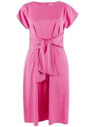 Closet Tie Front Dress Pink
