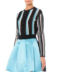 Fausto Puglisi Vertical Stripe Cardigan Sweater Stripes