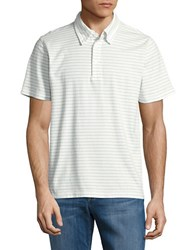 Brooks Brothers Striped Cotton Polo Shirt White