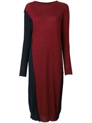 Marni Reversible High Low Dress Women Virgin Wool 44 Red