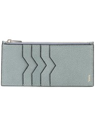 Valextra Coin And Cardholder Blue