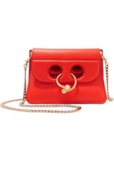 J.W.Anderson Pierce Mini Leather Shoulder Bag Red