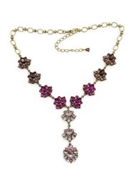 Belle By Badgley Mischka Pink Ombre Stone Cluster Y Necklace