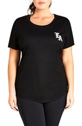 City Chic Plus Size La Tee Black