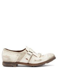Church's Shanghai W Distressed Leather Loafers White