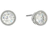 Lauren Ralph Lauren Small Stone Stud Earrings Silver Crystal Earring