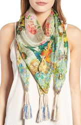 Johnny Was Women's Holly Print Square Silk Scarf