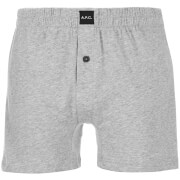 A.P.C. Calecon Cabourg Boxer Shorts Gris Clair Chine Grey