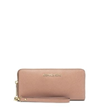 Michael Kors Jet Set Travel Leather Continental Wallet Blush