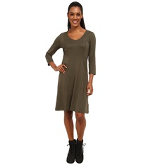 Exofficio Wanderlux 3 4 Sleeve Dress Highlands Women's Dress Gray