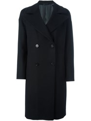Tonello Double Breasted Coat Black