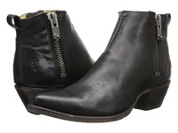 Frye Sacha Moto Shortie Black Smooth Vintage Leather Women's Pull On Boots