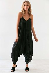 Silence And Noise Oversized Crinkle Jumpsuit Black