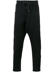 Amen Drop Crotch Track Pants Black