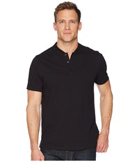 Perry Ellis Stretch Solid Jacquard Henley Black Clothing