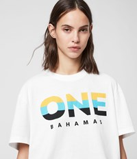 Allsaints Bahamas Crew T Shirt Optic White