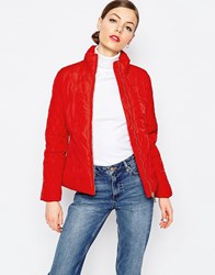 Love Moschino Quilted Heart Coat Re1 Red