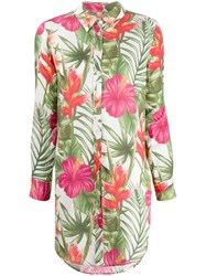 Mc2 Saint Barth Floral Print Shirt Pink