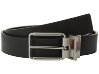Calvin Klein 32Mm Reversible Flat Strap Saffiano Leather To Smooth Black Black Men's Belts