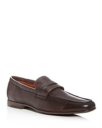 Gordon Rush Connery Leather Moc Toe Penny Loafers Espresso