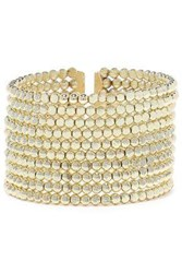 Kenneth Jay Lane Woman 22 Karat Gold Plated Beaded Cuff Gold