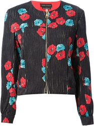 Andrea Incontri Floral Printed Jacket Blue