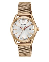 Citizen Stainless Steel Mesh Bracelet Watch Two Tone