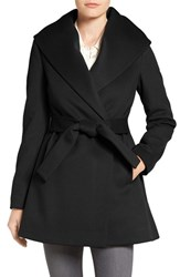 Trina Turk Women's 'Emma' Wool Blend Wrap Coat Black