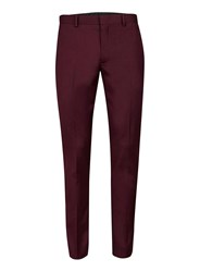 Topman Wine Red Ultra Skinny Fit Suit Trousers