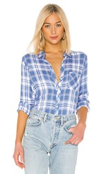 Rails Hunter Button Down In Blue. Blue Jay White And Pink