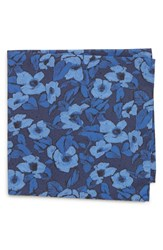 Bonobos Floral Cotton Pocket Square Navy Floral