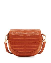 Nancy Gonzalez New Crocodile Saddle Bag Brown